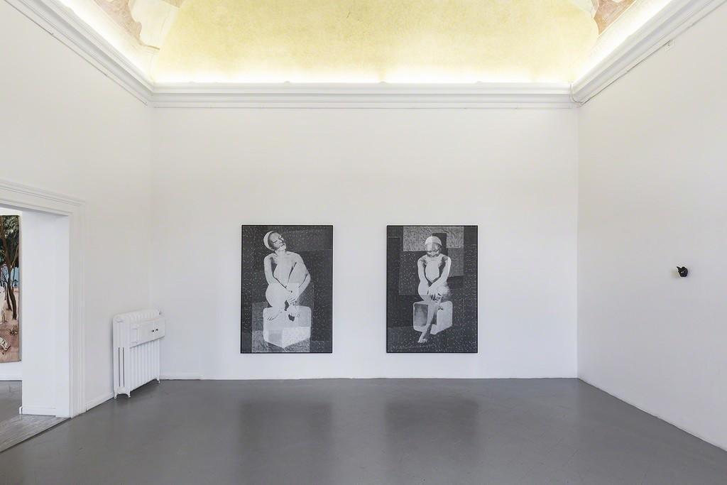 "David Noonan ""Untitled"" and ""Untitled"", on the side Sanam Khatibi"