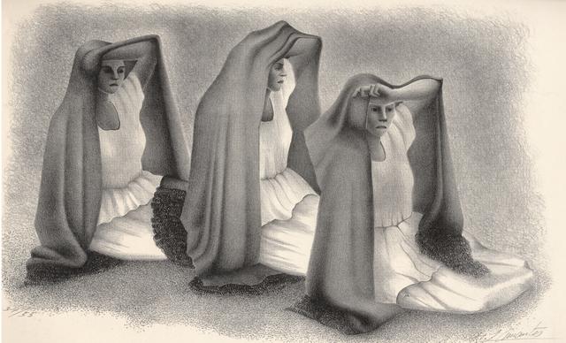 , 'Mujeres Veracruzans (Three women from Vera Cruz, Mexico),' ca. 1940, Stone + Press Gallery