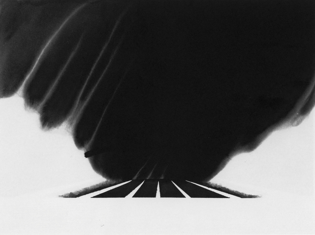 , 'Drifting Snow on the Mass Pike (from 100 Views Along the Road),' 1983, Bruce Silverstein Gallery