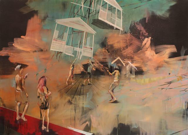 , 'A House Escapes Into The Sky, But Loses Its Form,' 2015, Lazinc