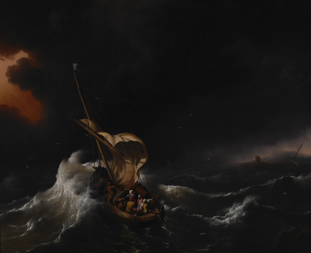 Ludolf Backhuysen, 'Christ in the Storm on the Sea of Galilee', 1695, Indianapolis Museum of Art at Newfields