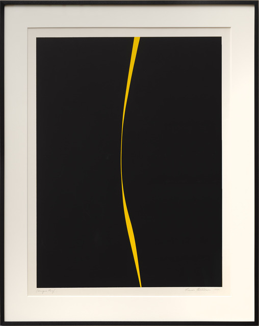 , 'Untitled (Black with Yellow Line),' 1971, Louis Stern Fine Arts