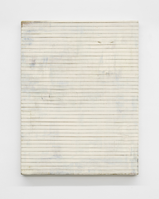 , 'Untitled (cut painting, white),' 2003-2016, Buchmann Galerie