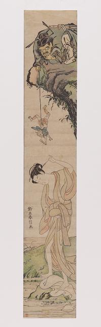 , 'The demon slayer Shōki has an imp deliver a love message to a washerwoman,' 1765-1770, Museum Rietberg