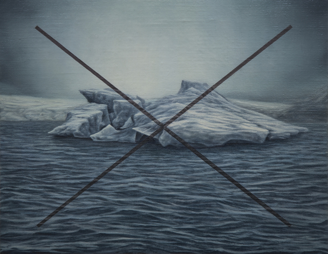 , 'blue iceberg gray X,' 2017, Ro2 Art