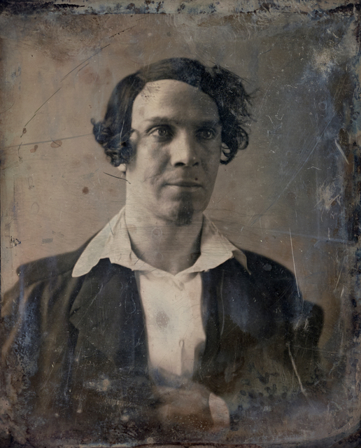 Michael Huey, 'Unknown Man (no. 1), Based on a damaged 1850s/60s Daguerreotype by Mathew Brady', 2019, Galerie Reinthaler