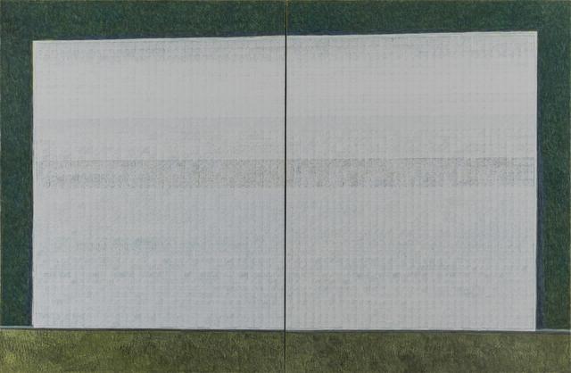 Zeng Hong, 'White Blocks on Green', 2013, Gallery Yang