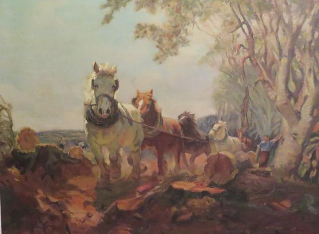 , 'Logging Scene - Work Horses,' , Arctic Experience McNaught Gallery