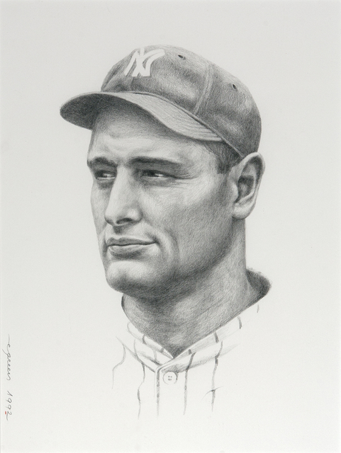 , 'Portrait of Lou Gehrig,' 1992, Dowling Walsh