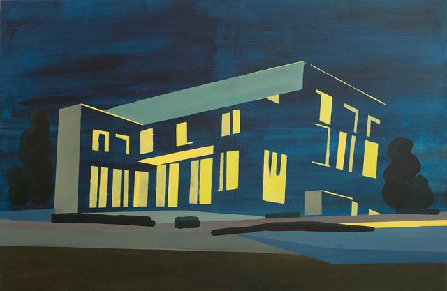 Vasilena Gankovska, 'By Night (A Study of the Wittgenstein House)', 2016, Painting, Oil on canvas, Galerie Ernst Hilger