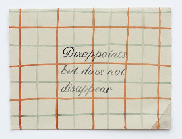 Julia Kuhl, 'Domestic Textiles Series, Disappoints ', 2019, frosch&portmann
