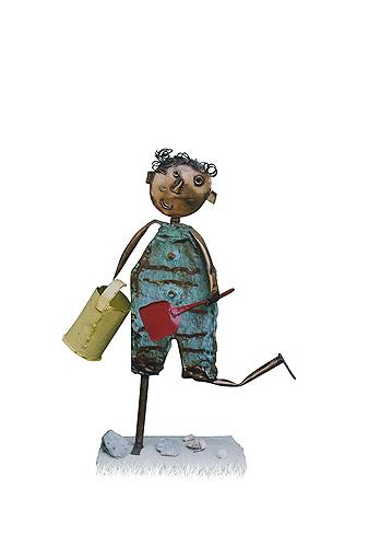 Peter Otfinoski, 'Child at Beach with Bucket & Shovel', 2004, David Barnett Gallery