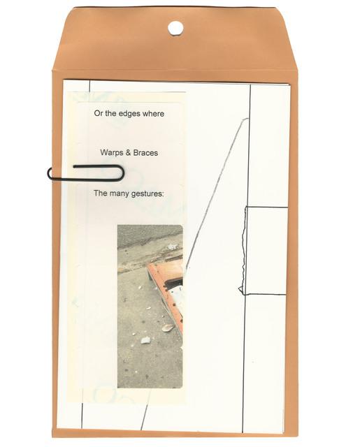 , 'OR THE EDGES WHERE (I) Pen and pencil on paper, envelope, laser printed labels, paper clip,' 2017, ROCKELMANN  & PARTNER