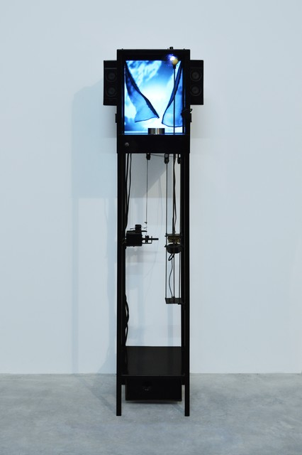 Fabien Chalon, 'Prends le temps', 2006, Sculpture, Metal, engines, flight mechanism, video and sound system, Galerie Olivier Waltman   Waltman Ortega Fine Art