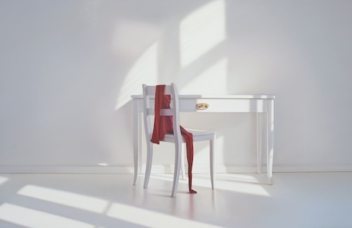 , 'Living room with table and red,' 2017, GALLERIA STEFANO FORNI