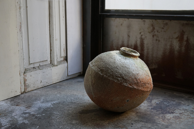 Shiro Tsujimura, 'Large round jar natural ash glaze', Kami ya Co., Ltd.