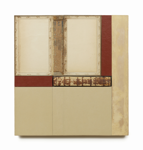 , 'Composition in Beige & Red,' 2012, William Campbell Contemporary Art, Inc.