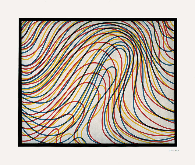 Sol LeWitt, 'Wavy Lines with Black Border', 1997, Upsilon Gallery