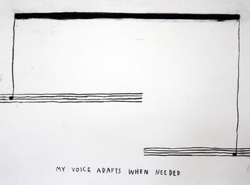 , 'My Voice Adapts When Needed,' 2015, Carroll / Fletcher