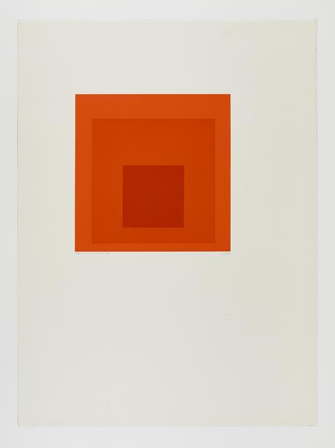 Josef Albers, 'SP-J', 1971, Print, Screenprint on Mohawk Superfine Bristol Paper, Cristea Roberts Gallery