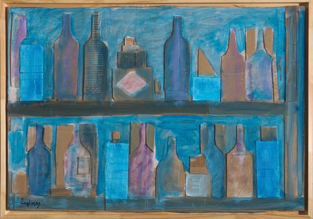 , 'Shelves with bottles,' 1978, Art4.ru