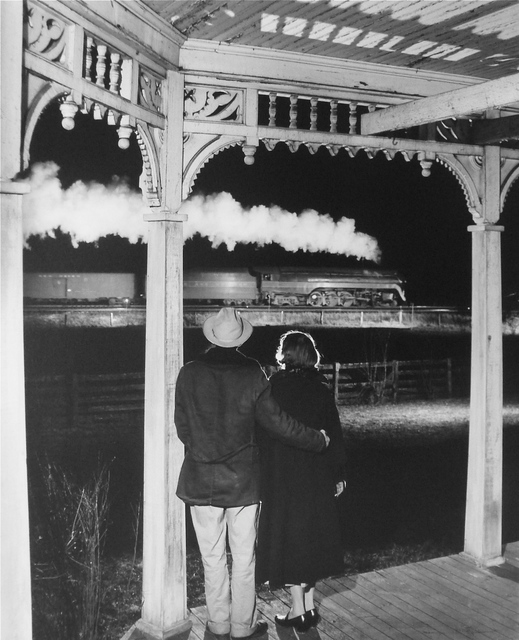 , 'Mr. and Mrs. Ben Pope Watch the last steam powered passenger train, Max Meadows, Virginia,' 1958, Danziger Gallery