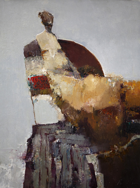 Danny McCaw, 'Golden Dress', 2019, Painting, Oil on board (framed), Sue Greenwood Fine Art