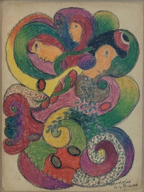 Minnie Evans, 'Untitled (Three Faces)', 1944, ZQ Art Gallery