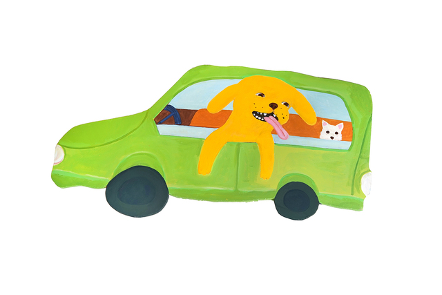 , 'Dogs in a Nissan Cube,' 2018, Hashimoto Contemporary
