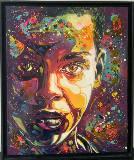 C215, 'Golden age', 2020, Painting, Spray paint and acrylic on canva, Galry