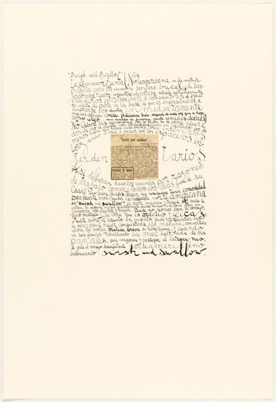 León Ferrari, 'Swish and swallow', 2009, Polígrafa Obra Gráfica