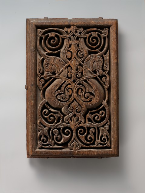 Unknown Artist, 'Panel with Horse Heads', 11th century, The Metropolitan Museum of Art