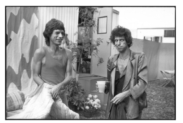 Michael Halsband, 'Mick Jagger & Keith Richards Backstage minutes before going on Stage to perform the first show of the tour September 25, 1981, RFK Stadium  Philadelphia, PA', 1981, SPONDER GALLERY