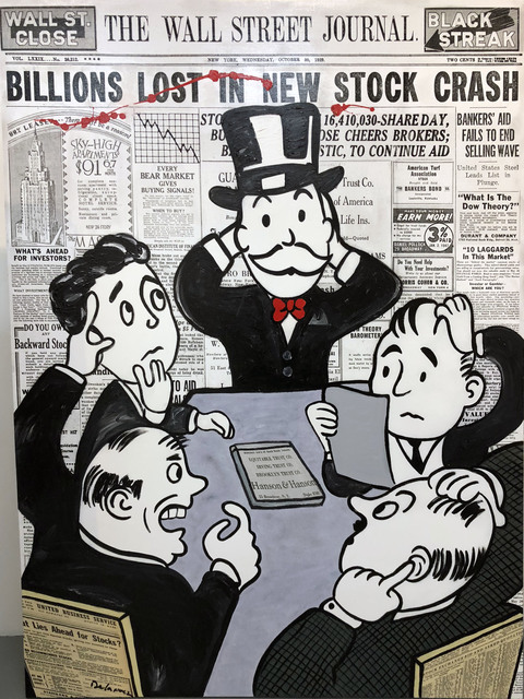 , 'Board Room Panic (Billions) - Wall Street,' 2018, Bruce Lurie Gallery
