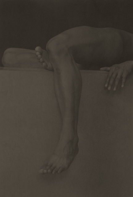 , 'New Process, Leg Draped Over Block,' 2001, CAMERA WORK