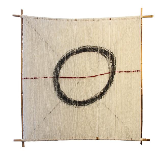 Daniel Nyström, 'Straight into my circle', 2019, Mixed Media, Wool, ratan and wood, Galería La Cometa