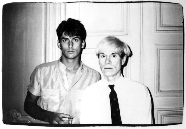 Andy Warhol, 'Andy Warhol, Photograph with a Male Model circa 1985', ca. 1985, Hedges Projects