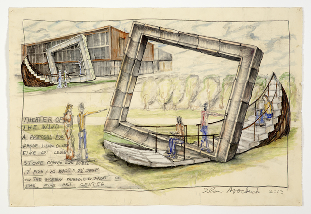 Ilan Averbuch, 'Theater of The Wind (sketch for realized public art sculpture)', Khawam Gallery