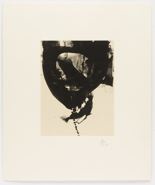 Robert Motherwell, 'Nocturne VIII, from Three Poems by Octavio Paz', 1987-1988, Leslie Sacks Gallery