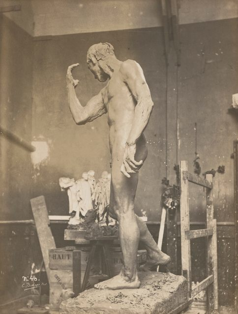 , 'Pierre de Wissant nu en terre dans l'atelier (Pierre de Wissant clay nude in studio),' c. 1886, Musée Rodin
