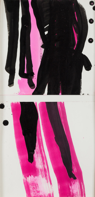 , 'Sans titre - diptyque (personnages courant),' 2015, Michel Rein Paris/Brussels
