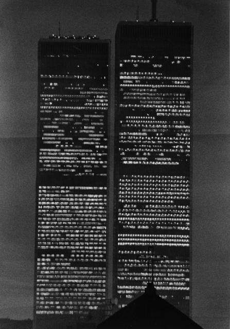 André Kertész, 'World Trade Center at Night', ca. 1975, Bruce Silverstein Gallery