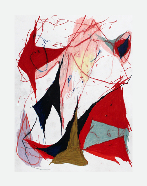 Joseph Hart, 'Awake Portrait', 2021, Drawing, Collage or other Work on Paper, Collaged paper, acrylic, enamel, oil crayon and graphite on linen, Halsey McKay Gallery