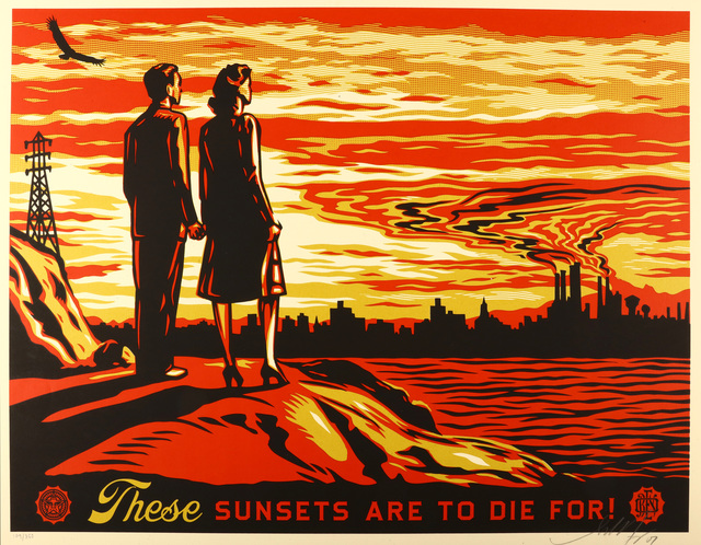 Shepard Fairey (OBEY), 'These Sunsets Are To Die For', 2007, Chiswick Auctions