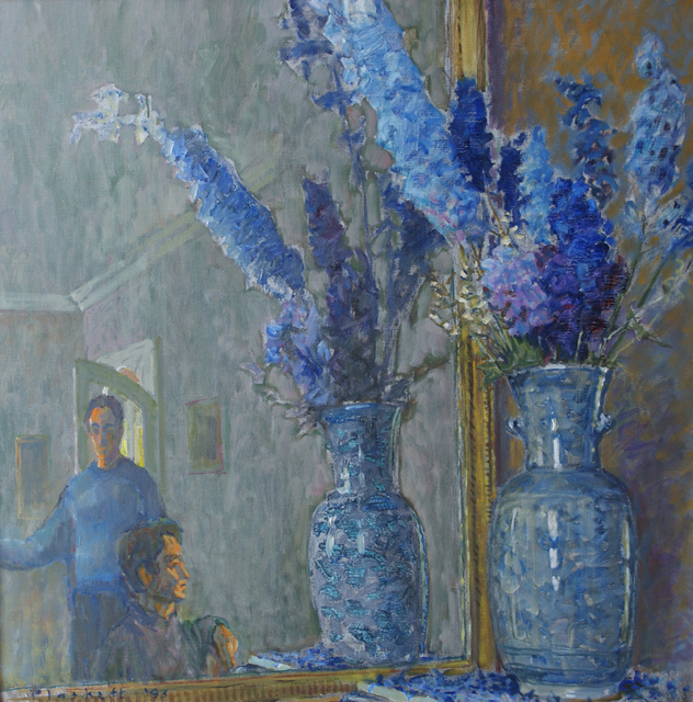 , 'Delphiniums and Figures 1,' 1993, Winchester Galleries