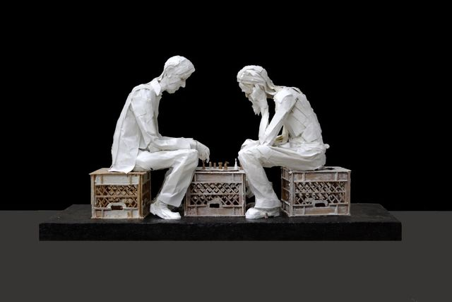 , 'The Chess Players,' 2017, Gallery Victor Armendariz