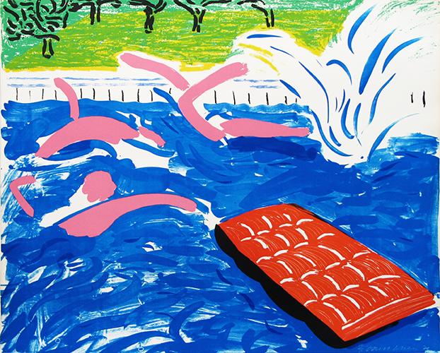 David Hockney, 'Afternoon Swimming', 1980, Mary Ryan Gallery, Inc