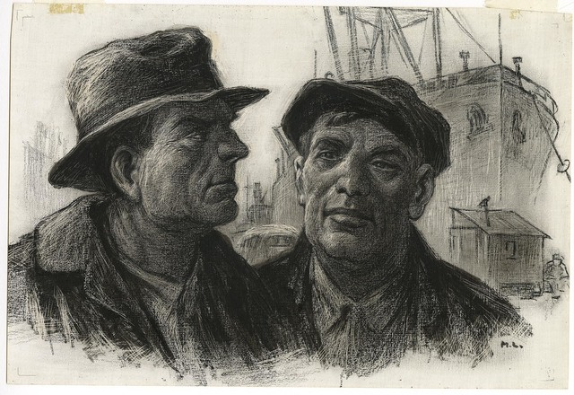 , 'Dockworkers.,' ca. 1918, The Old Print Shop, Inc.