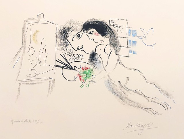 Marc Chagall, 'Rêve Familier', 1969, Print, Lithograph, color added, R. S. Johnson Fine Art
