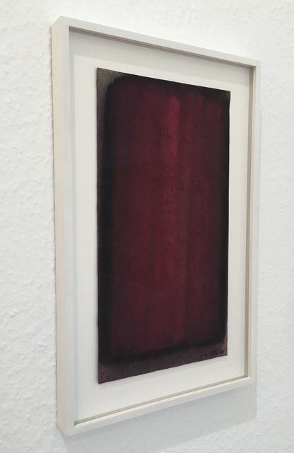 , 'Wine-red gouache,' 1986, Sebastian Fath Contemporary